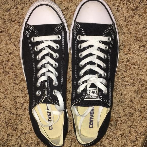 db2e37a7e75 Black low-cut converse sneakers. Converse. M 5a41c742a825a636dd045594.  M 5a41c881f9e5014595046007. M 5a41c896d39ca2a8b1045c94